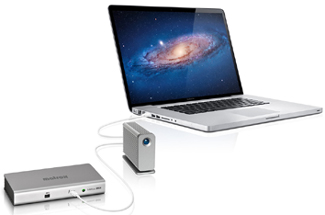 MacBook Pro docking station Thunderbolt daisy chain set-up │Matrox DS1